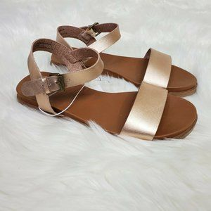Size 6.5 Rose Gold Nyla Ankle Wrap Sandals Buckle
